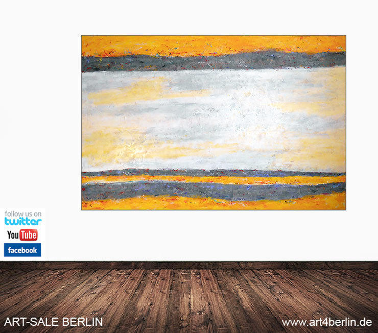yellow horizon acrylbild auf leinwand 175 115 cm original 990 euro art4berlin. Black Bedroom Furniture Sets. Home Design Ideas