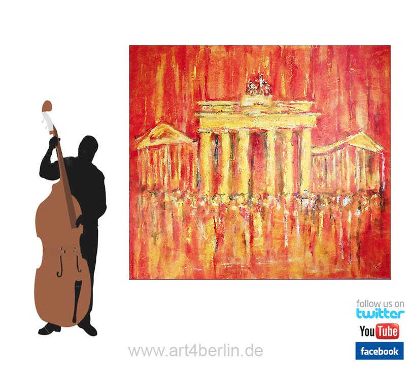 brandenburger tor k nstleracrylfarben leinwand 150 135 cm original 990 euro art4berlin. Black Bedroom Furniture Sets. Home Design Ideas