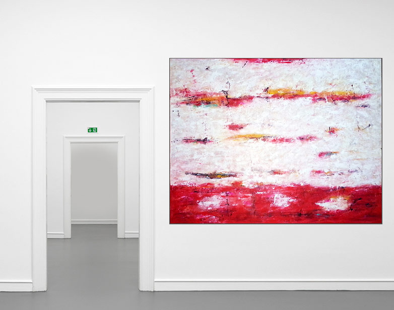 red abstraction ii l acryl auf leinwand 160 125 cm original 990 euro art4berlin. Black Bedroom Furniture Sets. Home Design Ideas