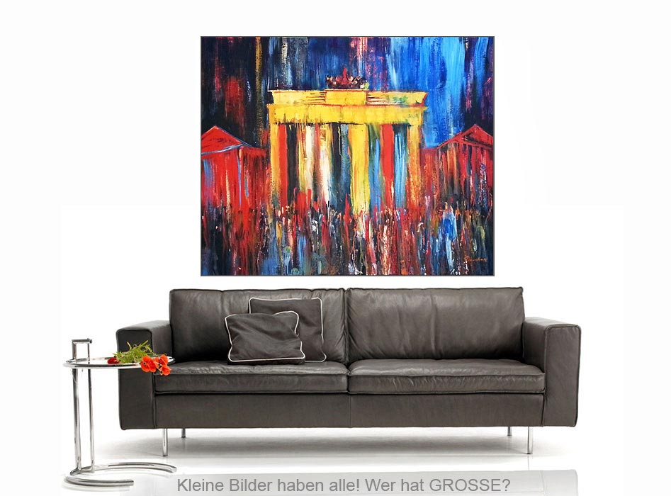 brandenburger tor mischtechnik leinwand 135 110 cm original 840 euro art4berlin. Black Bedroom Furniture Sets. Home Design Ideas