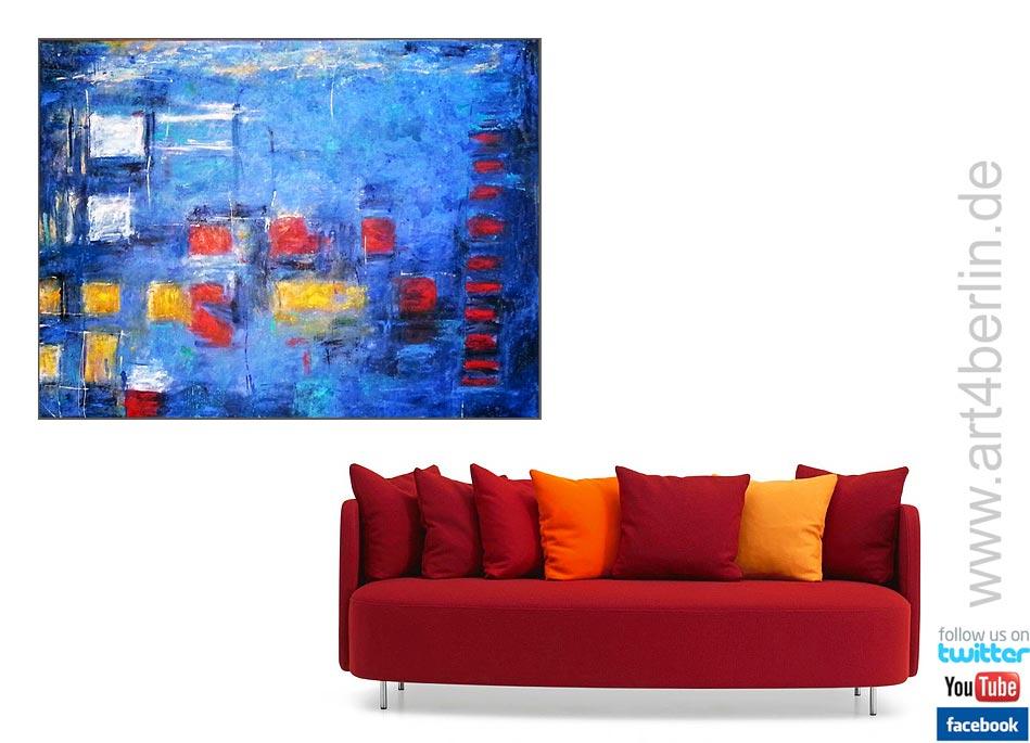 blue universe acrylmischtechnik leinwand 140 105 cm original 840 euro art4berlin. Black Bedroom Furniture Sets. Home Design Ideas