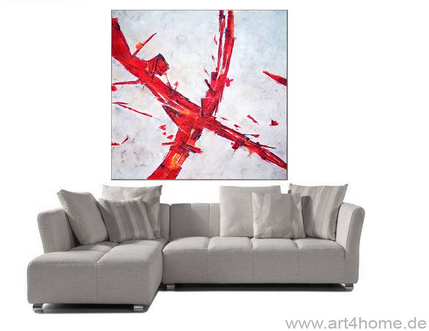 red crossing mischtechnik auf leinwand 140 140 cm original 990 euro art4berlin. Black Bedroom Furniture Sets. Home Design Ideas
