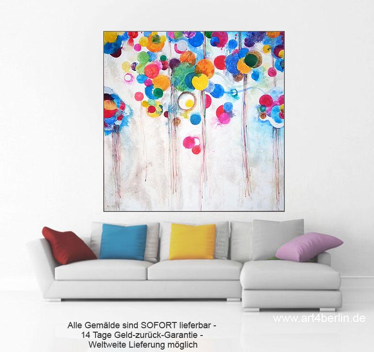 circles of happiness k nstleracrylfarben leinwand 140 140 cm original 990 art4berlin. Black Bedroom Furniture Sets. Home Design Ideas