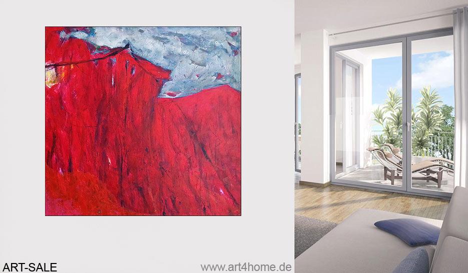 red design acryl auf leinwand 140 140 cm original 990 euro art4berlin kunstgalerie. Black Bedroom Furniture Sets. Home Design Ideas