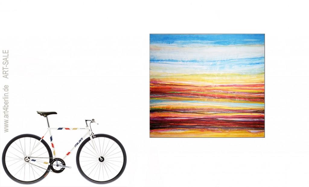 rainbow stripes acrylbild auf leinwand 150 135 cm original 990 euro art4berlin. Black Bedroom Furniture Sets. Home Design Ideas
