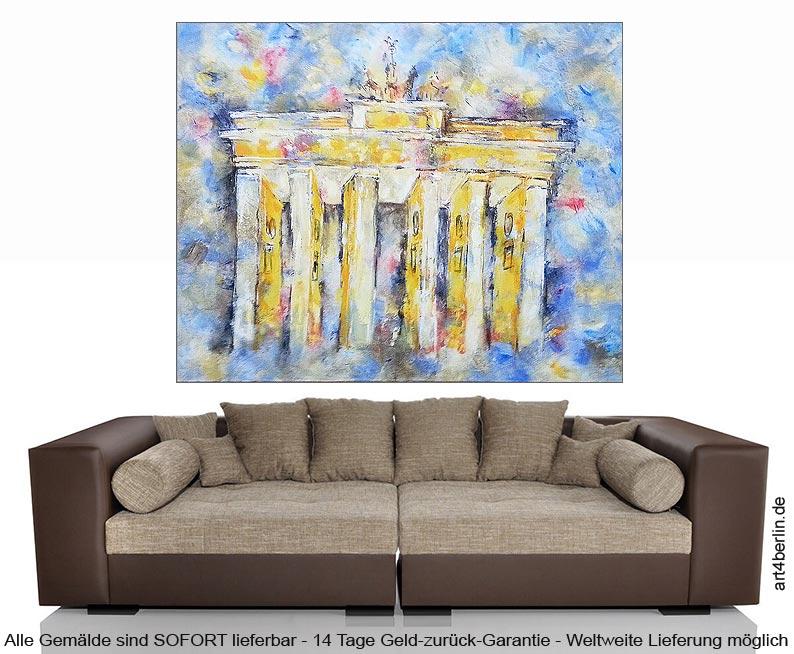 brandenburger tor ii acryl leinwand 155 130 cm original 990 euro art4berlin kunstgalerie. Black Bedroom Furniture Sets. Home Design Ideas