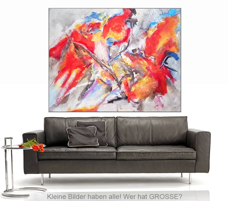 colour splash acryl auf leinwand 160 125 cm original 990 euro art4berlin kunstgalerie. Black Bedroom Furniture Sets. Home Design Ideas