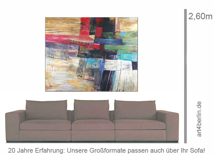 welt im wandel acrylbild auf leinwand 150 135 cm original 990 euro art4berlin. Black Bedroom Furniture Sets. Home Design Ideas