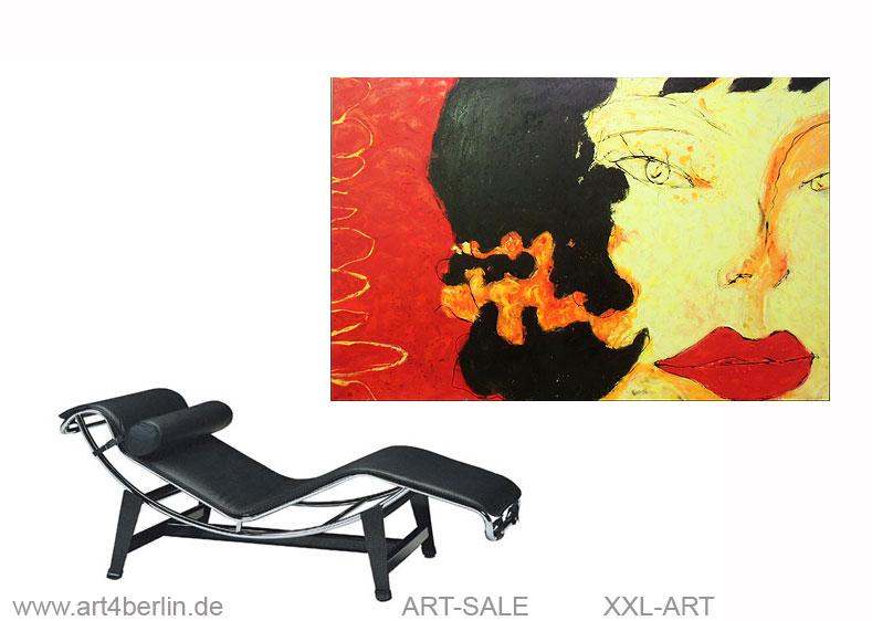 entdeckung der sinnlichkeit acrylmischtechnik leinwand 150 100 cm original 840 euro. Black Bedroom Furniture Sets. Home Design Ideas