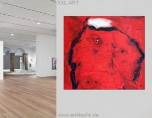 VERKAUFT - Rote Energie, Acrylbild auf Leinwand, 150x135 cm, Original, 990,- Euro