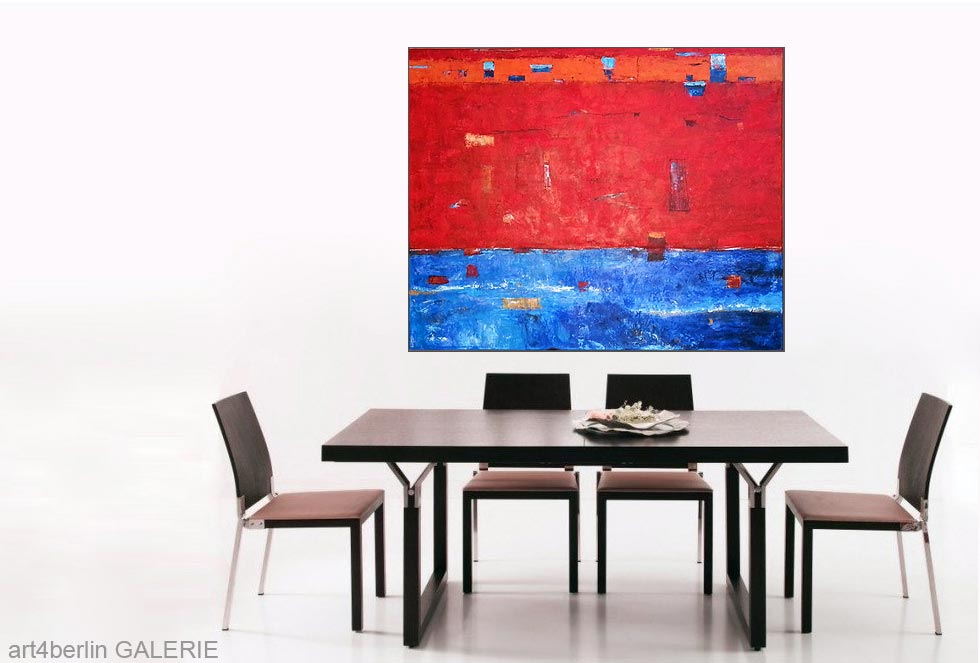 blaue ferne k nstleracrylfarben leinwand 135 110 cm original 840 euro art4berlin. Black Bedroom Furniture Sets. Home Design Ideas