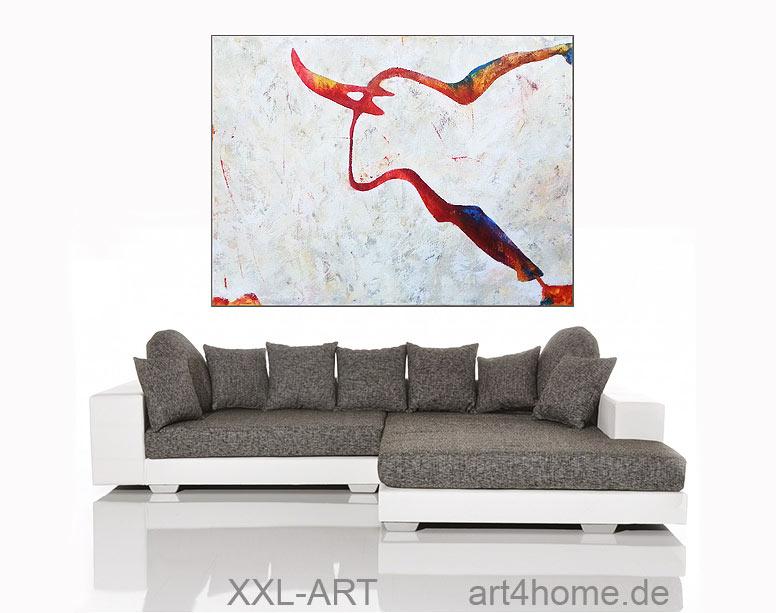 kunst stier original acryl l bild 140 105 cm 840 euro art4berlin kunstgalerie onlineshop. Black Bedroom Furniture Sets. Home Design Ideas