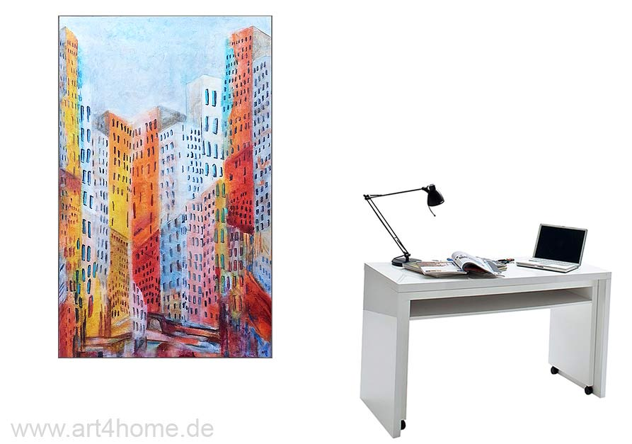 stadt ansicht acryl leinwand 180 110 cm original 990 euro art4berlin kunstgalerie onlineshop. Black Bedroom Furniture Sets. Home Design Ideas