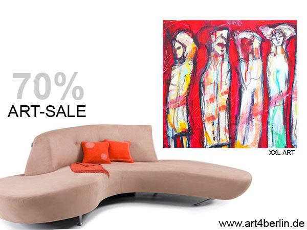 Moderne Gemälde, abstrakte Kunst, zeitgenössische Malerei im Trend