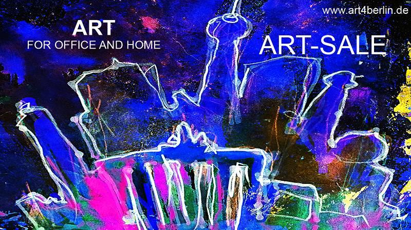 wohnen und einrichten mit moderner gro formatiger kunst junger malerei gro en abstrakten. Black Bedroom Furniture Sets. Home Design Ideas