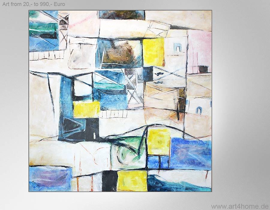 Junge Kunst statt alte Meister. Moderne Acrylbilder.