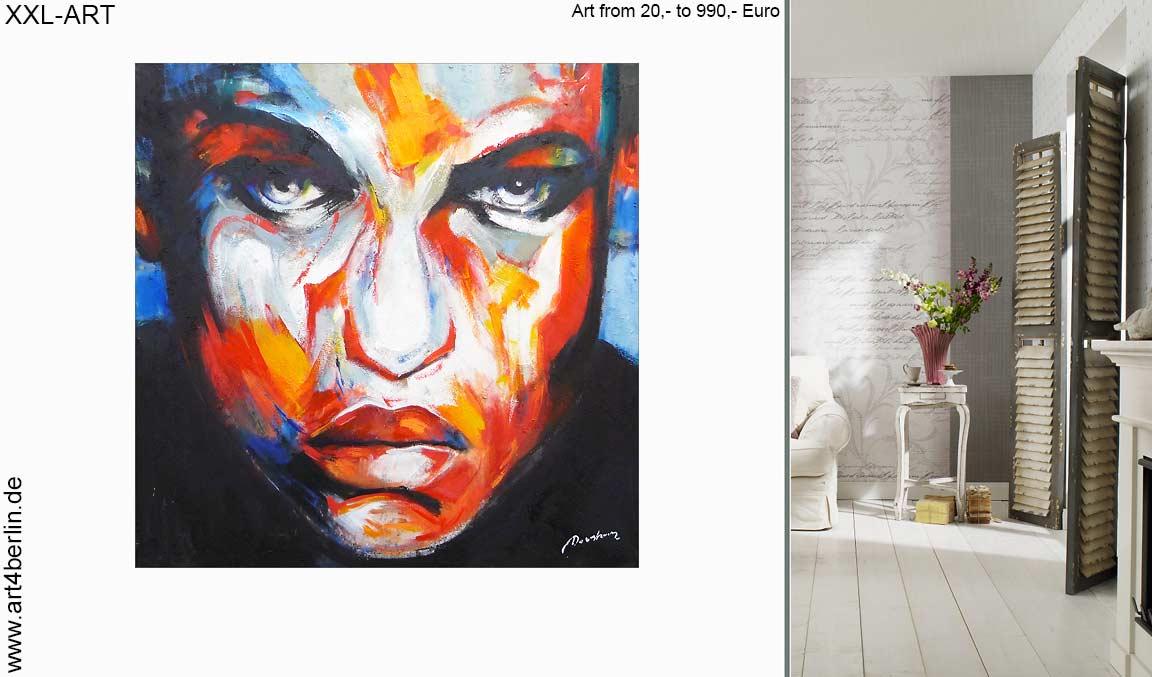 xxl bilder wohnzimmer malerei guenstig abstrakt