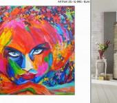 Echte Gemälde und moderne, abstrakte XXL Malerei
