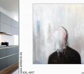 Wände mit moderner Kunst