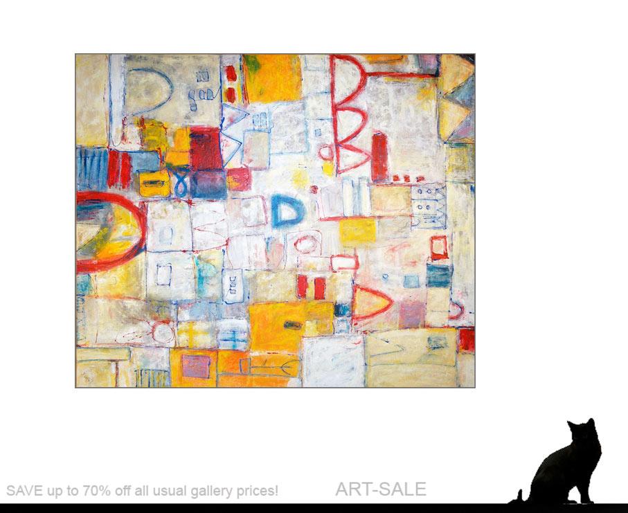 Wenn Kunst, großformatige Acrylbilder zu besten Freunden und Begleitern werden! Modern ART