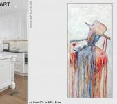 Lifestyle & Kunst aus Berlin, großformatige Acrylmalerei