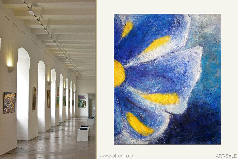 blaue bl te k nstler acrylfarben leinwand 135 110 cm original 840 euro art4berlin. Black Bedroom Furniture Sets. Home Design Ideas