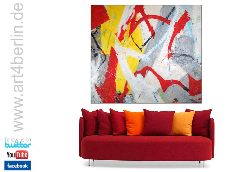 Gelungene Wandgestaltung mit modernen Gemälden, großformatigen Acrylbildern! Modern ART for Home and Office!