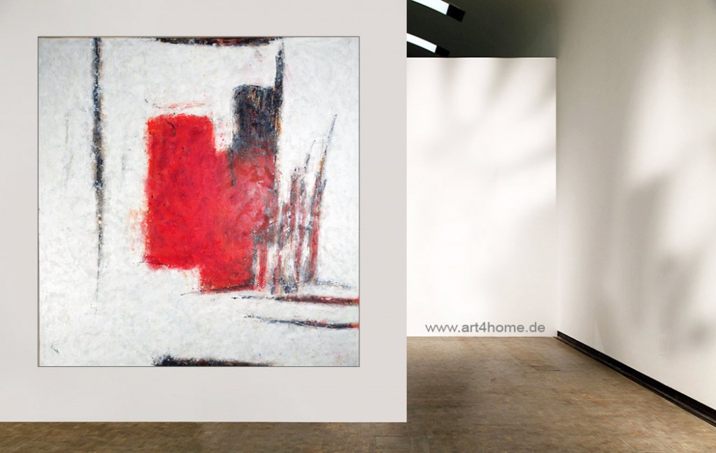 red position abstraktes acrylleinwandbild 140 140 cm original 990 euro art4berlin. Black Bedroom Furniture Sets. Home Design Ideas