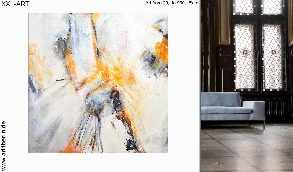 malerei abstrakt wohnzimmer guenstig xxl bilder