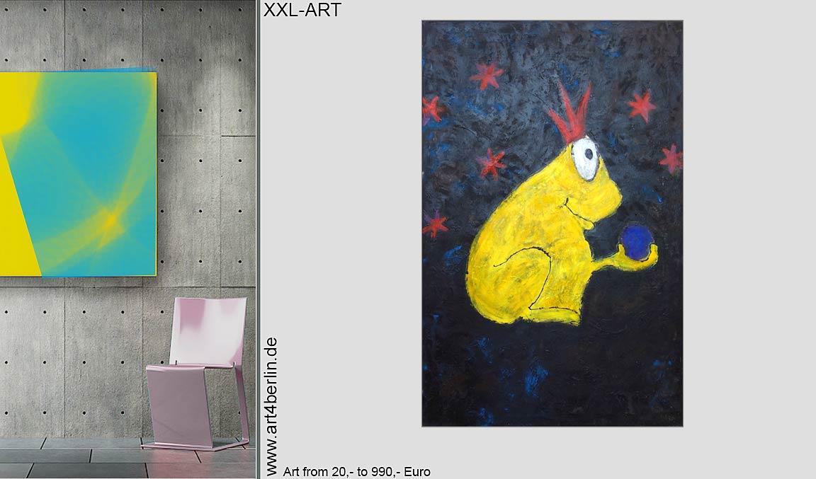 """""""Junge Meister"""" moderner Kunst, abstrakte Acrylbilder"""
