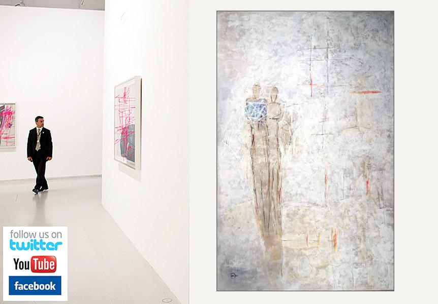 Bunte Vielfalt an zeitgenössicher Kunst, moderner Malerei aus Berliner Künstlerateliers