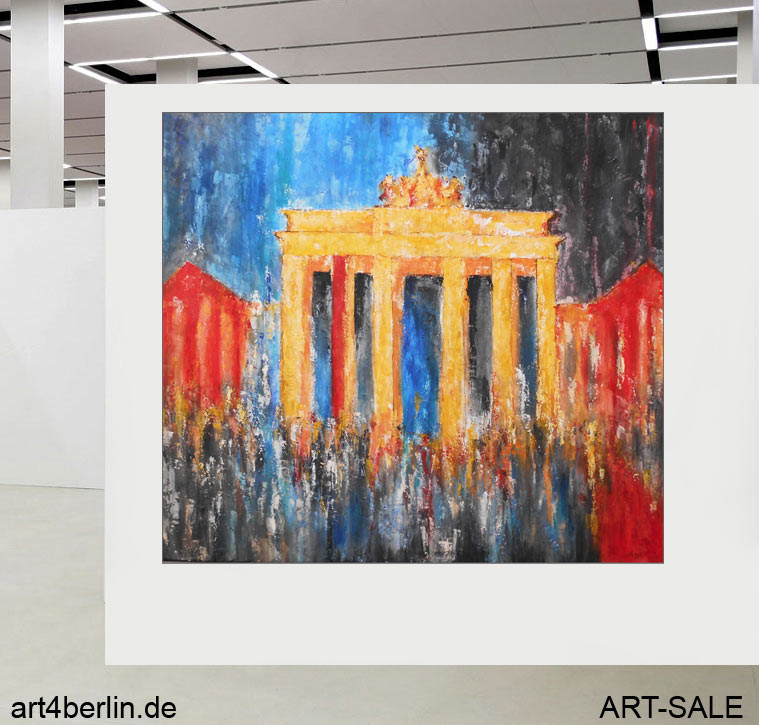 brandenburger tor acryl leinwand 150 135 cm original 990 euro art4berlin kunstgalerie. Black Bedroom Furniture Sets. Home Design Ideas
