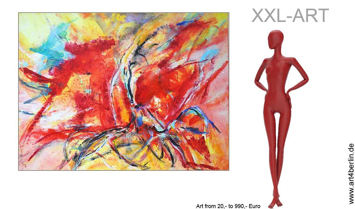 Große, abstrakte Leinwandbilder zum Sonderpreis. Kunst sofort zum Aufhängen.