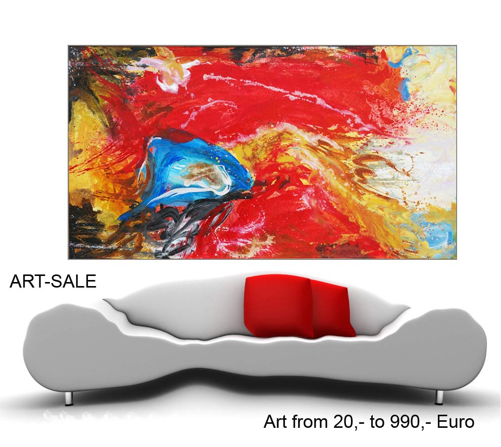 Wände mit moderner Kunst, Berliner Künstlerateliers, Kunst-Webshop,