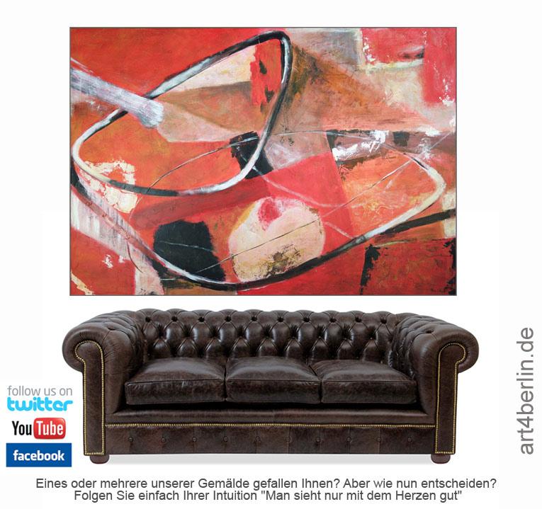 Neue Trends in Sachen Berlin-Kunst, abstrakte, moderne Malerei für ein schönes Zuhause