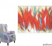 Abstrakte Gemälde. Galerie Berlin.