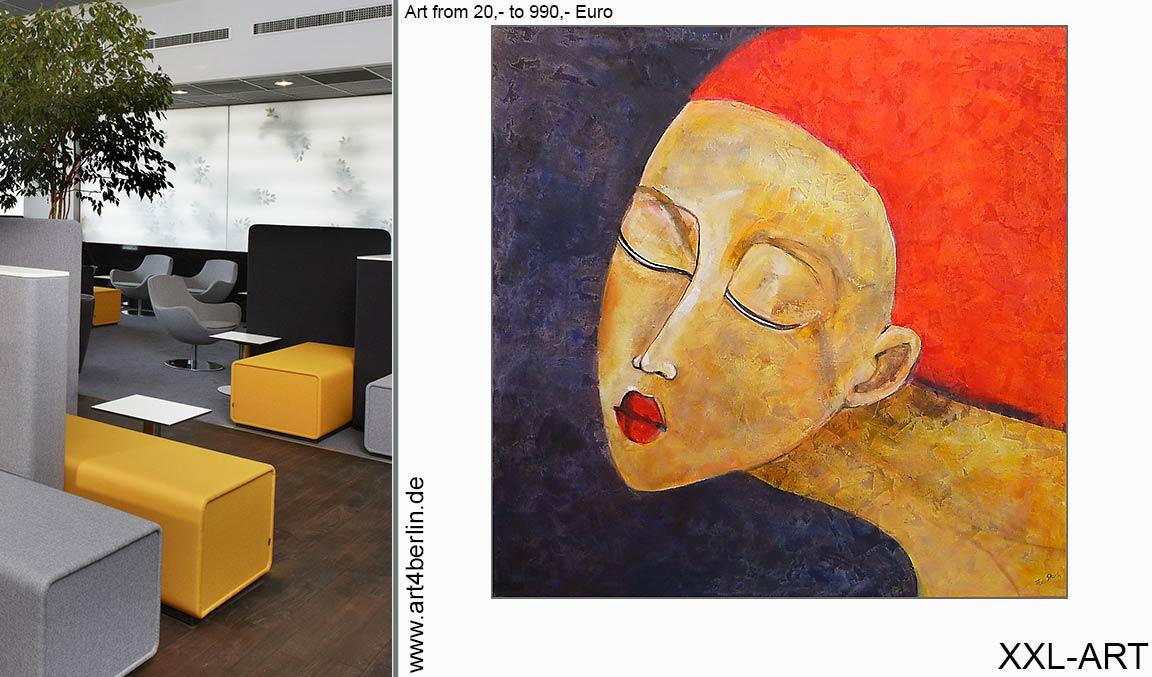Onlineshop günstig Wandbilder handgemalt Acrylbilder