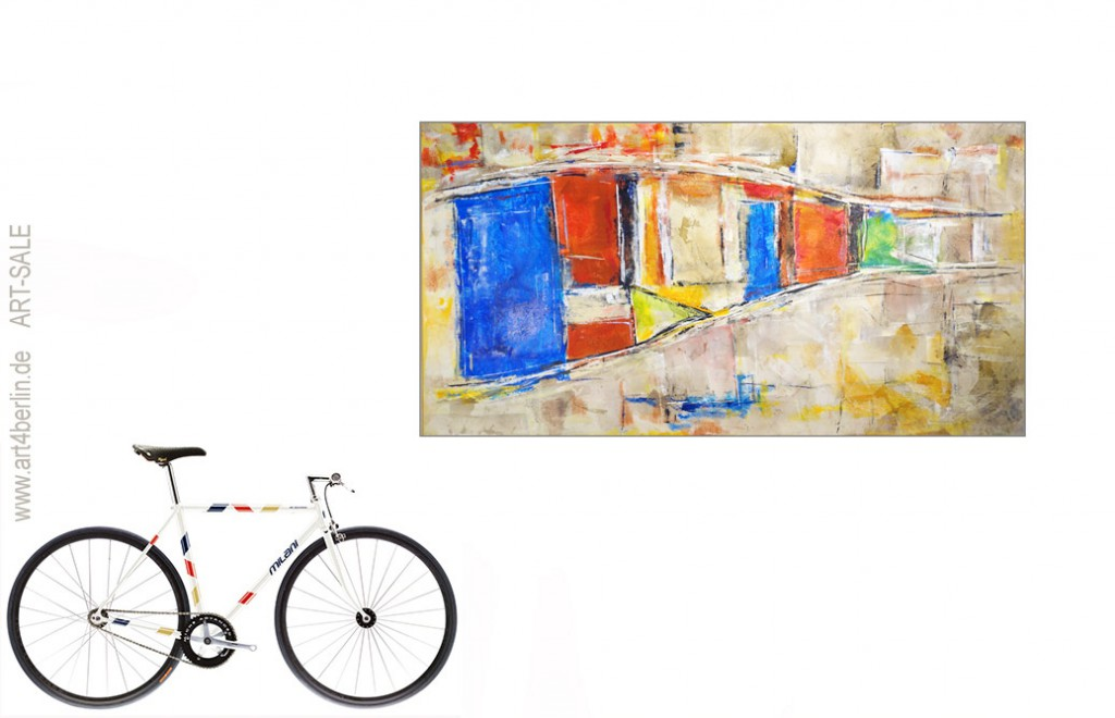 wege der kunst k nstleracrylfarben leinwand 165 90 cm original 840 euro art4berlin. Black Bedroom Furniture Sets. Home Design Ideas