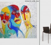 Großformatige Malerei aus Berlin