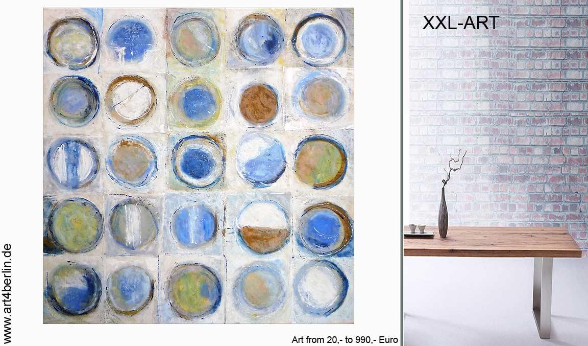 Große, farbenfrohe Bilder & abstrakte Malerei