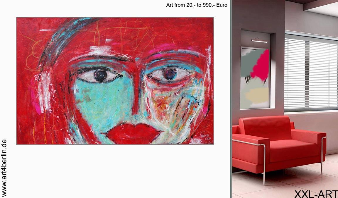 Moderne Kunst, abstrakte Gemälde, moderne Bilder aus Berlin. XXL Kunst günstig kaufen.