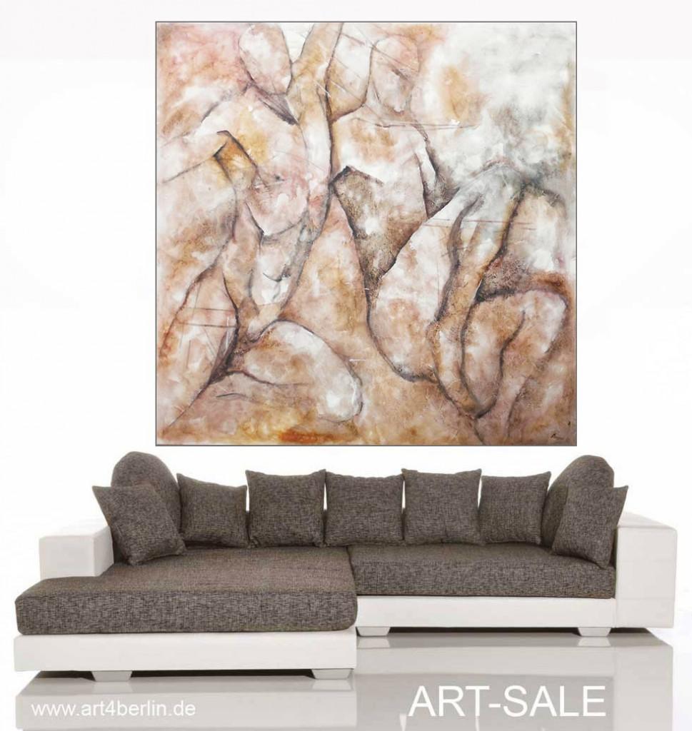 k rperpr senz l acryl mischtechnik auf leinwand 140 140 cm original 990 euro art4berlin. Black Bedroom Furniture Sets. Home Design Ideas