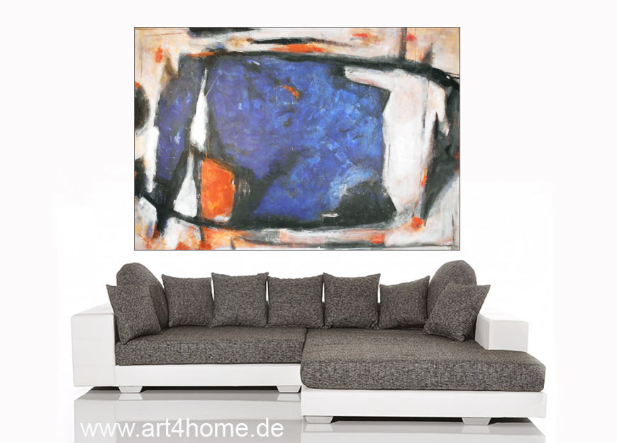blaue vision acrylmischtechnik leinwand mit spachtelstrukturen auf leinwand 150 100 cm. Black Bedroom Furniture Sets. Home Design Ideas