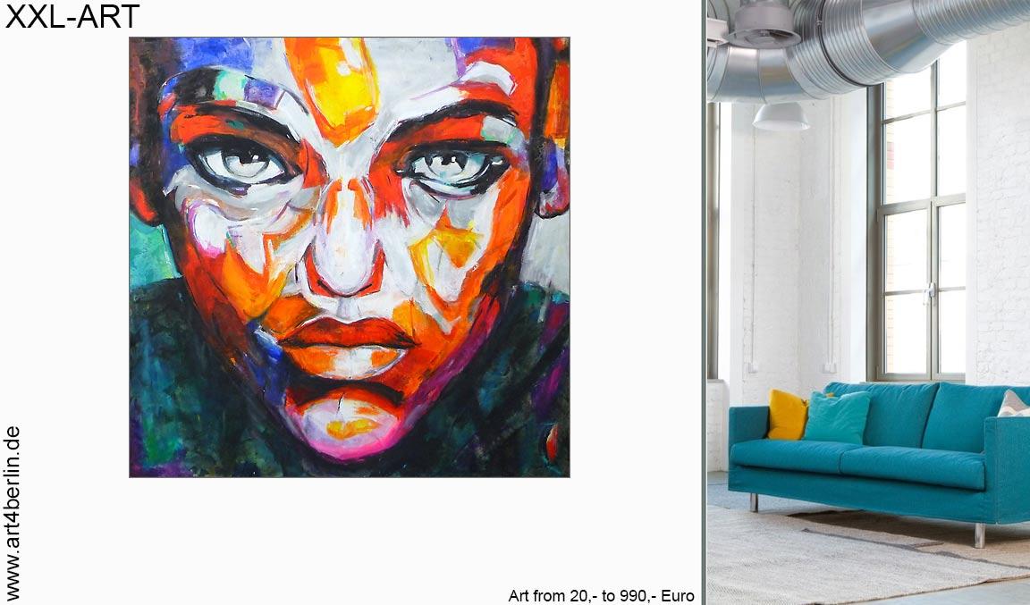 Moderne Kunst für Zuhause. Große Kunstausstellung