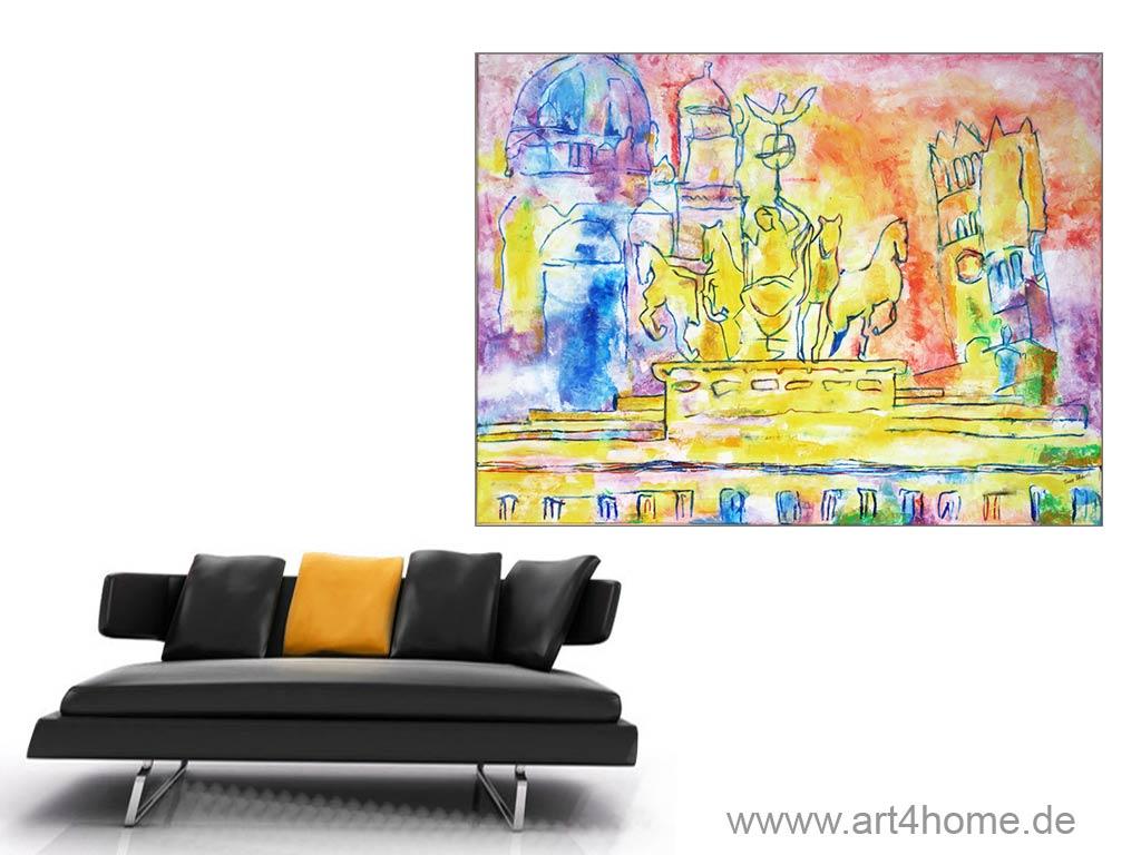 Ölgemälde und Acrylmalerei.
