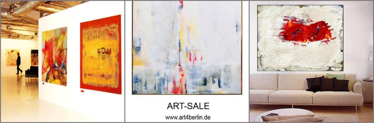 junge Berliner Künstler malen große, abstrakte Bilder und Gemälde