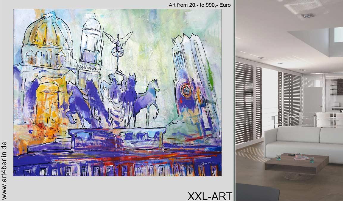 XXL Malerei als schöne Dekoration.