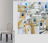 Große Räume mit Bildern umdekorieren.