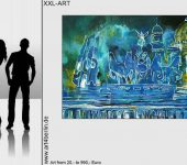 Junge Gegenwartskunst, Leinwandbilder aus Berliner Künstlerateliers.
