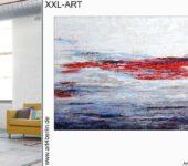 Wohnen mit Bildern macht glücklich. Elegant wohnen mit XXL Malerei.